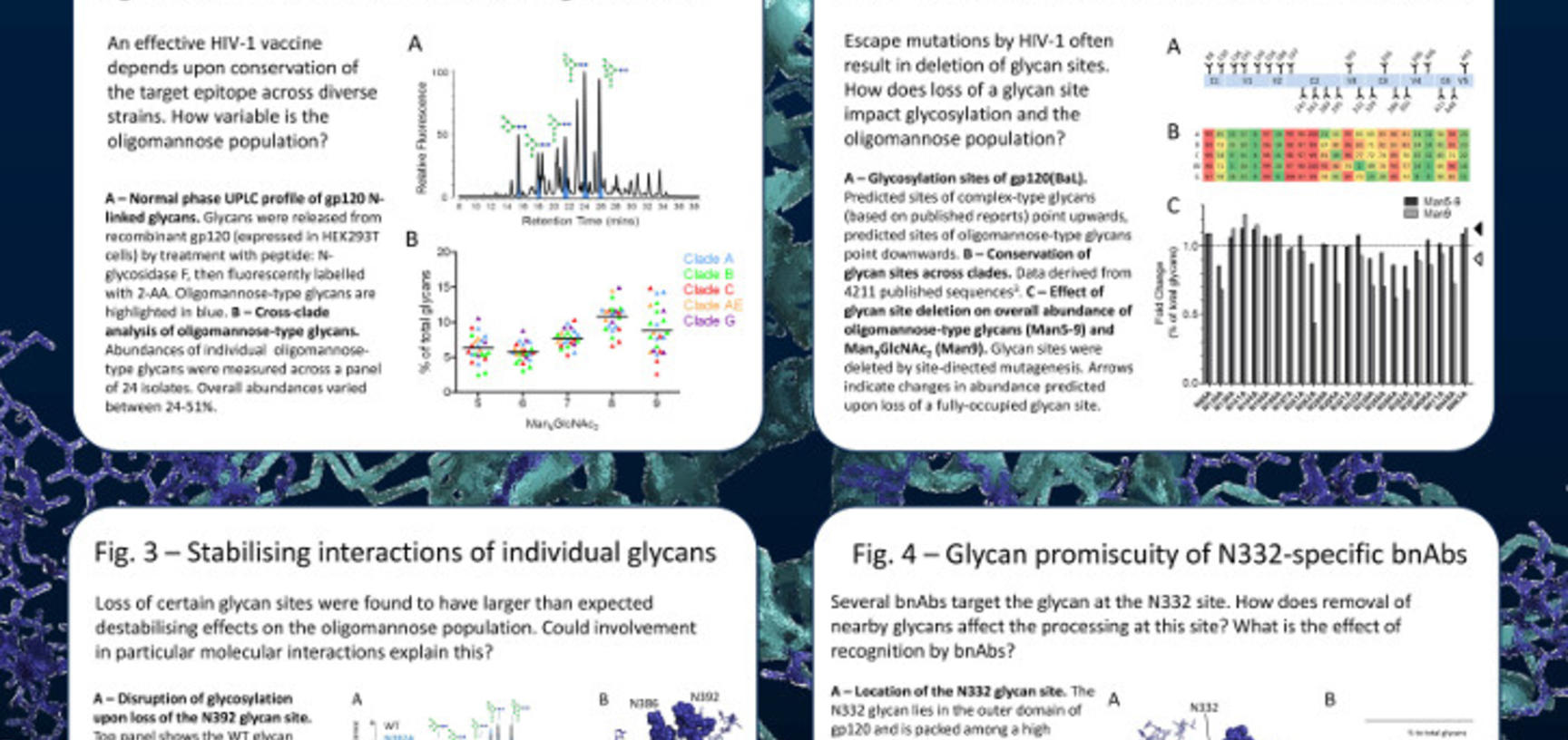 2014 poster hiv 1 glycan shield laura pritchard